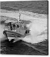 Coast Gaurd In Action In Black And White Canvas Print