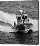 Coast Guard In Black And White Canvas Print