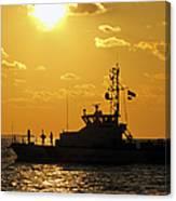 Coast Guard In Paradise - Key West Canvas Print