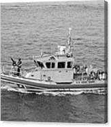 Coast Guard On Patrol In Black And White Canvas Print