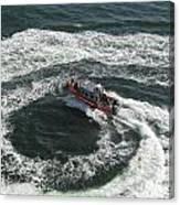 Coast Guard Ship - Port Of Los Angeles Canvas Print