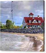 Coast Guard Station In Muskegon Canvas Print