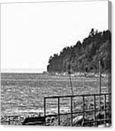 Coast Line B And W Canvas Print