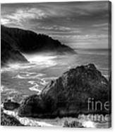Coast Of Dreams 7 Bw Canvas Print