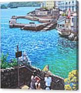 Coast Of Plymouth City Uk Canvas Print
