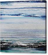 Coast Rhythms And Texturesblueand Silver 1 Canvas Print