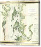 Coast Survey Map Of The Chesapeake Bay  Canvas Print