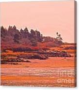 Coastal Bay At Low Tide Canvas Print