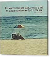 Coastal Beach - E.e. Cummings Sea Quote Canvas Print