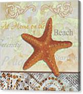 Coastal Decorative Starfish Painting Decorative Art By Megan Duncanson Canvas Print
