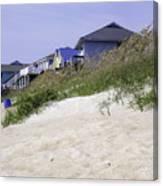 Coastal Living In Topsail Beach Nc Canvas Print