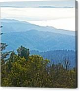 Coastal Range And Clouds From West Point Inn On Mount Tamalpias-california Canvas Print