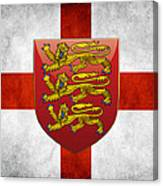 Coat Of Arms And Flag Of England Canvas Print