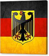 Coat Of Arms And Flag Of Germany Canvas Print