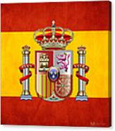 Coat Of Arms And Flag Of Spain Canvas Print