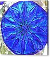 Cobalt Mandala  Canvas Print