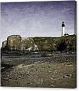 Cobble Beach At Yaquina Lighthouse Canvas Print