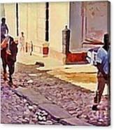 Cobble Stone Streets Of Cuba Canvas Print