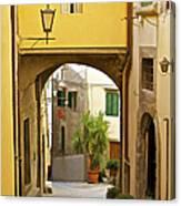 Cobblestone Street Of Tuscany Canvas Print