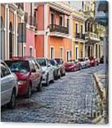 Cobblestone Streets Of San Juan Puerto Rico Canvas Print