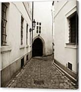 Cobblestone Walk Canvas Print