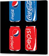 Coca Cola And Pepsi Canvas Print