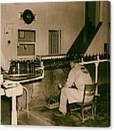 Coca Cola Bottling Line 1950s Canvas Print