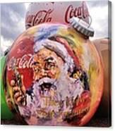 Coca Cola Christmas Bulbs Canvas Print