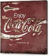 Coca Cola Faded Sign Canvas Print