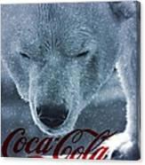 Coca Cola Polar Bear Canvas Print