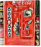 Coca-cola Retro Style Canvas Print