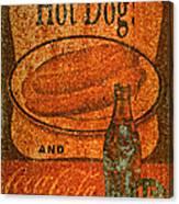 Coca Cola Rusty Sign Canvas Print