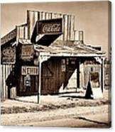 Coca Cola Shack Canvas Print