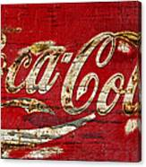 Coca Cola Sign Cracked Paint Canvas Print