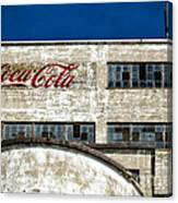 Coca Cola Sign On Old Factory Canvas Print