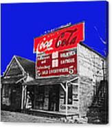 Coca-cola  Sign Palace Cafe Sumter South Carolina 1912-2013   Canvas Print