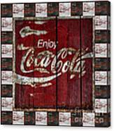 Coca Cola Sign With Little Cokes Border Canvas Print