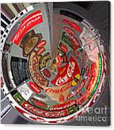 Coca Cola Signs In The Round Canvas Print