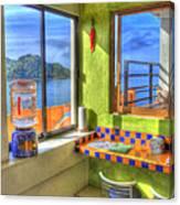 Cocina Con Vista Canvas Print