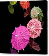 Cocktail Umbrellas Xii Canvas Print