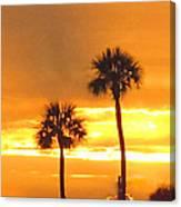Cocoa Beach Sunset Canvas Print