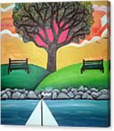 Coconut Grove Park Canvas Print