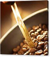 Coffe Beans In The Grinder Canvas Print