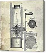 Coffee Mill Patent 1893 Canvas Print