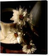 Coffee And Daisies  Canvas Print