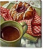 Coffee And Danish Canvas Print