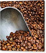 Coffee Beans With Scoop Canvas Print