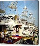 Coffee Boats Canvas Print