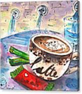 Coffee Break In Spili In Crete Canvas Print