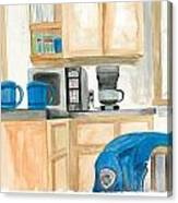Coffee Cups On The Counter Canvas Print